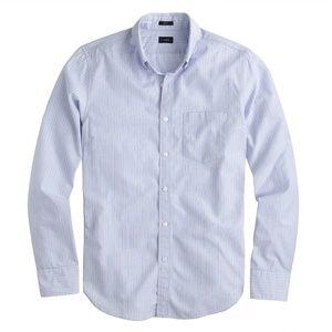 NEW - J.Crew Secret Wash Striped Casual Shirt BLUE